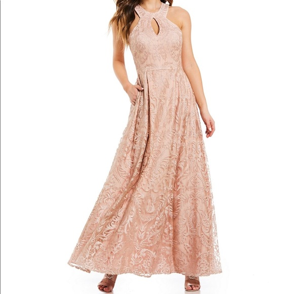 ac35e5c8678f0 Morgan & Co. Dresses | Blush Embroidered Ball Gown Prom Or ...